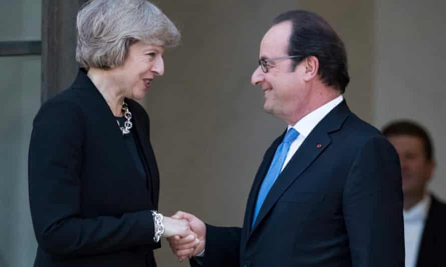 Theresa May and François Hollande.