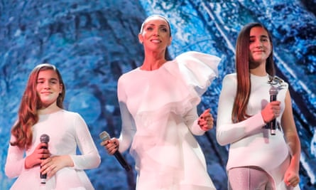 Mikella Abramova performs with her mother Alsou