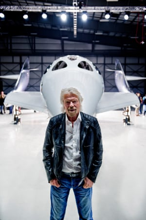 Richard Branson and Virgin Galactic Spaceship Unity