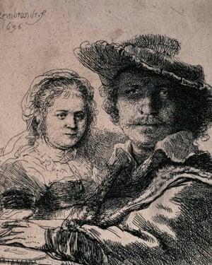 Self-Portrait with Saskia, 1636.