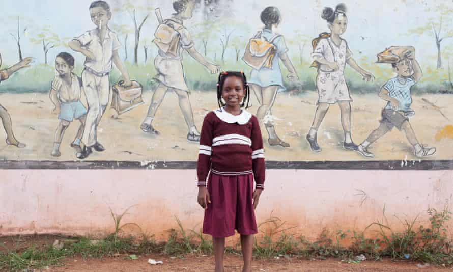 Daline, 10, from the Cameroonian capital Yaoundé