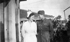 Ernest Hemingway and Agnes von Kurowsky in Milan, Italy, in 1918. She was the American nurse who inspired the character Catherine Barkley in A Farewell to Arms