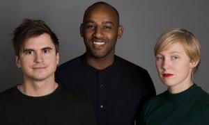 Secrets producers Martin Johnson, Mohamed El Abed and Åsa Secher.