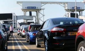 Motorists heading from Dover to France