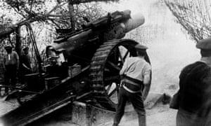 British artilleryman in France circa 1916.