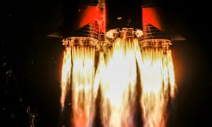 Blast off of the Soyuz MS-12 spacecraft from Baikonur, Kazakhstan, on it's mission to the International Space Station