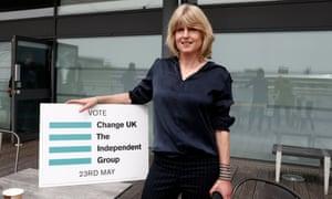 The Change UK candidate Rachel Johnson