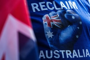 A banner of the Reclaim Australia group