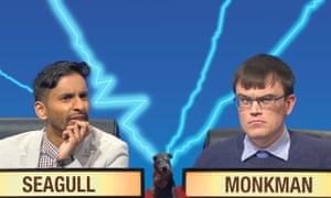Rivals join forces ... University Challenge pair Seagull and Monkman.