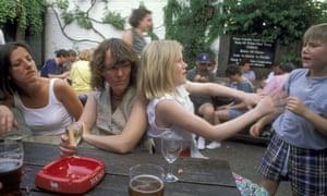 Children in beer garden