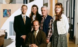 From left: David Hyde Pierce, Peri Gilpin, Kelsey Grammer, John Mahoney and Jane Leeves.