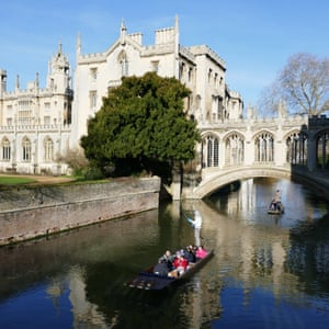 Punt on the Cam at St John's College, Cambridge.