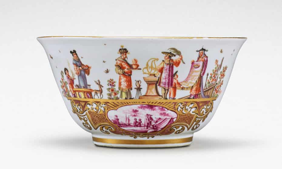 A unique Meissen armorial waste bowl from the service made for Clemens August, Elector of Cologne