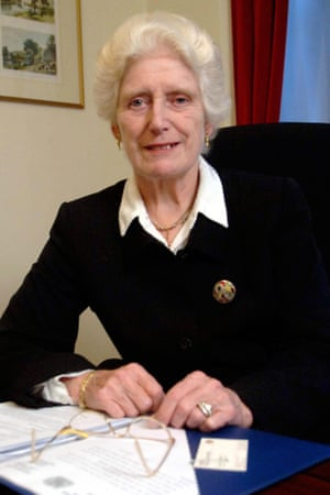 Former high court judge Lady Butler-Sloss