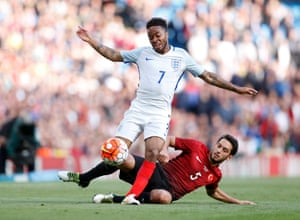 Sterling gets ahead of Calhanoglu to send one in.