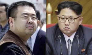Kim Jong-nam, left, and North Korean leader Kim Jong Un