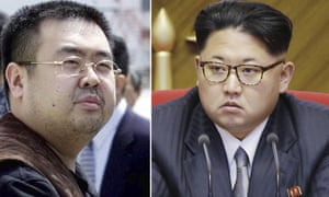 Combination of file photos shows Kim Jong-nam, left, the estranged half-brother of North Korean leader Kim Jong-un