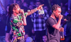Rae Sremmurd performing at Drai's Night Club, Las Vegas, April 2018.