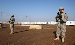 US soldiers at the Taji base complex north of Baghdad on 29 December 2014.