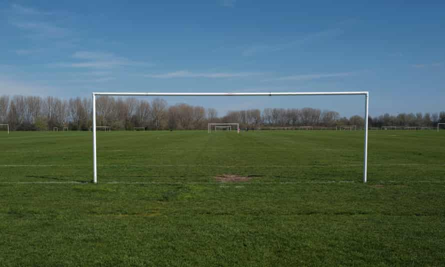 Hackney Marshes, east London, without Sunday league football.