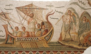 Odysseus and the sirens, mosaic in the Bardo museum, Tunis.