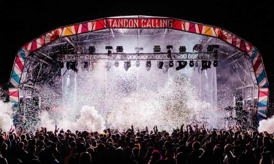 The Standon Calling festival stage in 2019.