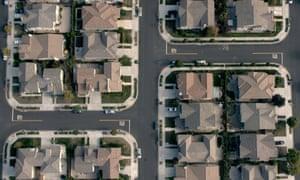A US neighbourhood seen from a drone in National Bird.