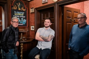 Dave Buckle, John Brady and Michael Gallagher