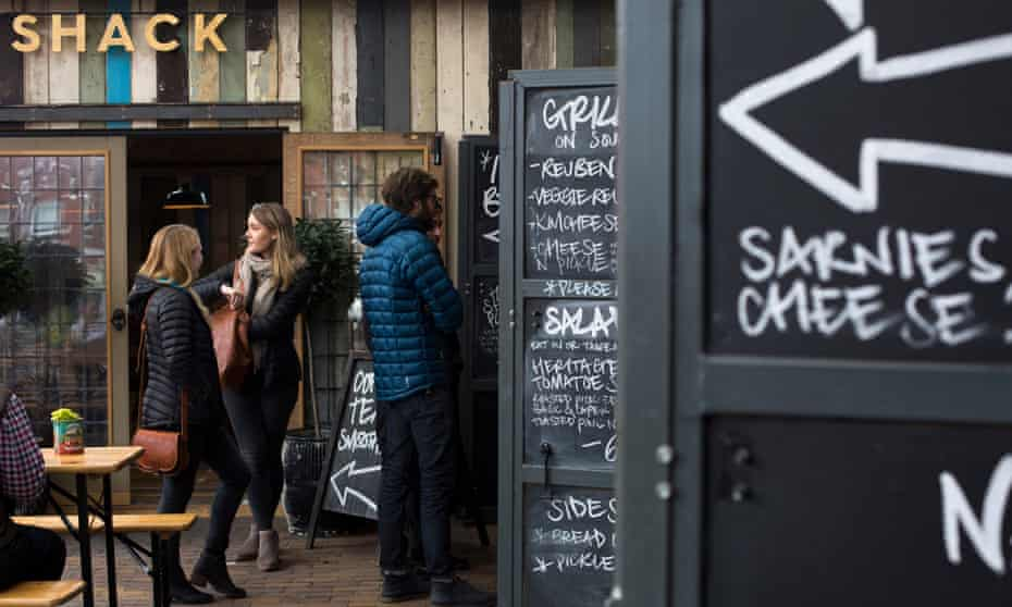 Food markets such as Altrincham, can create a social space bringing people together.