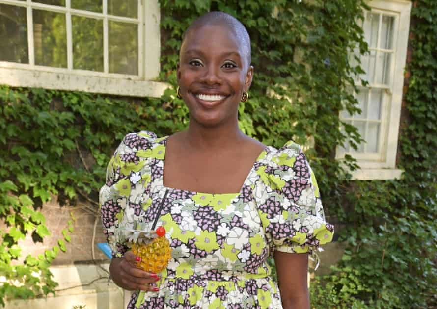 Yomi Adegoke attends the Ted Baker x Hoste summer supper club, hosted by Laura Jackson at Museum of the Home on July 8, 2021 in London, England