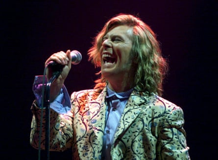 File photo of David Bowie performing at the Glastonbury Festival
