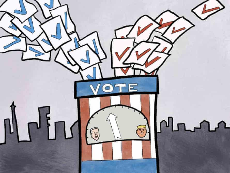 Americans voting by mail could extend the counting process.