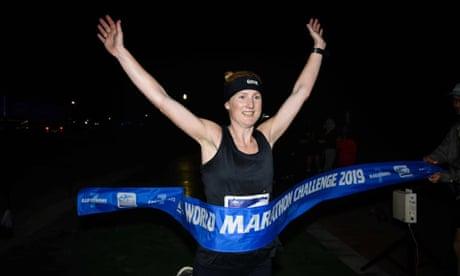 Seven marathons in seven days: British runner sets time record