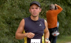 Andreas Lubitz shown running the Airportrace half marathon in Hamburg in this September 13, 2009. REUTERS/Foto-Team-Mueller