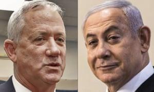 Benny Gantz and and Benjamin Netanyahu