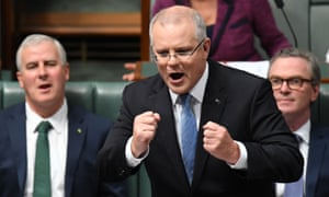 Treasurer Scott Morrison during Question Time, 9 May 2018