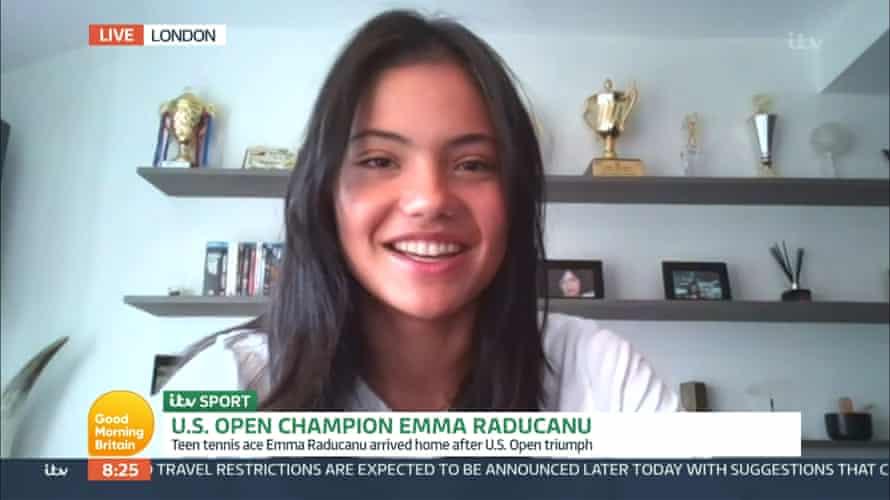 Emma Raducanu appears on Good Morning Britain.