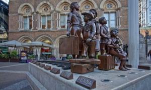 The Kindertransport memorial at Liverpool Street station, London.