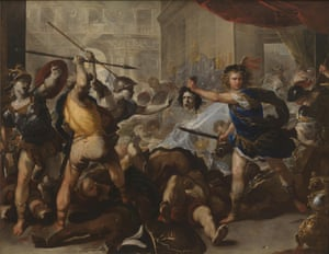 Perseus turning Phineas and his Followers to Stone, by Giordano, Luca (1632-1705)