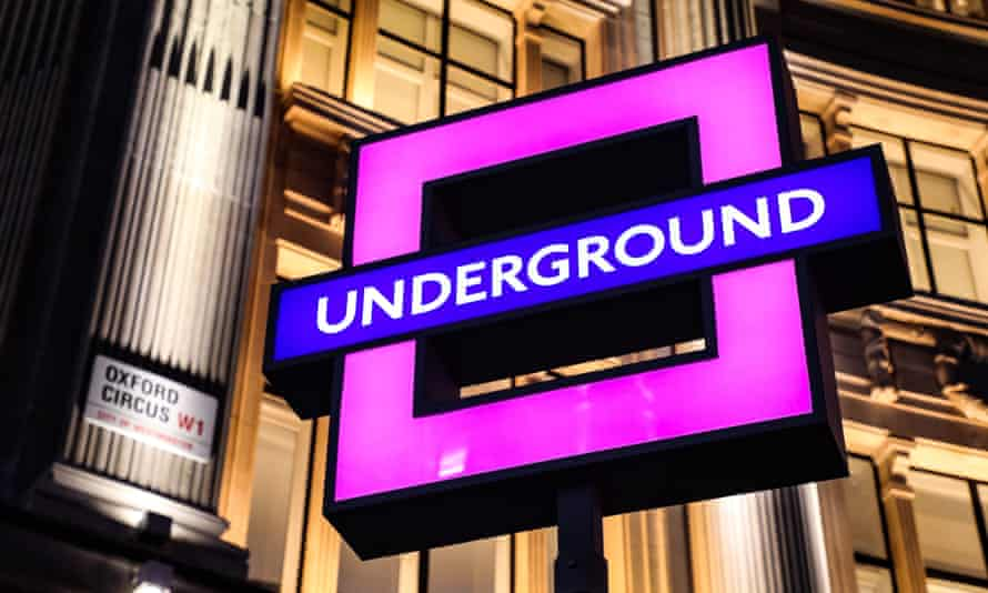 London Underground sign in square shape
