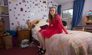 'I'm a massive Glee fan' ... Abigail Turner wearing her prom dress.