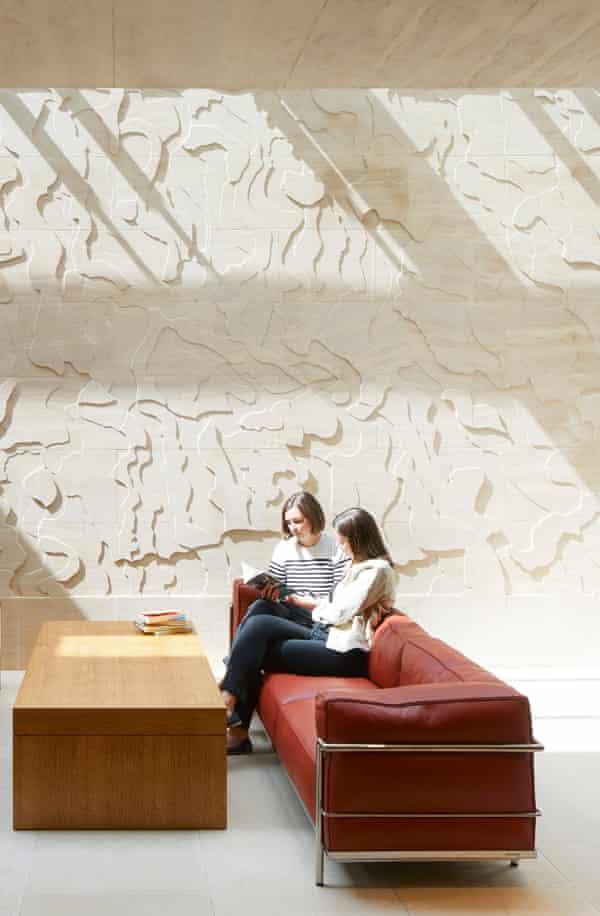 Susanna Heron's bas-relief continues inside