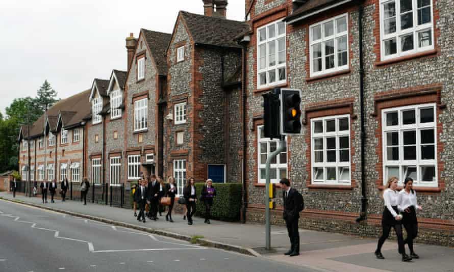 Pupils at Sir William Borlase's grammar school in Marlow, Buckinghamshire.