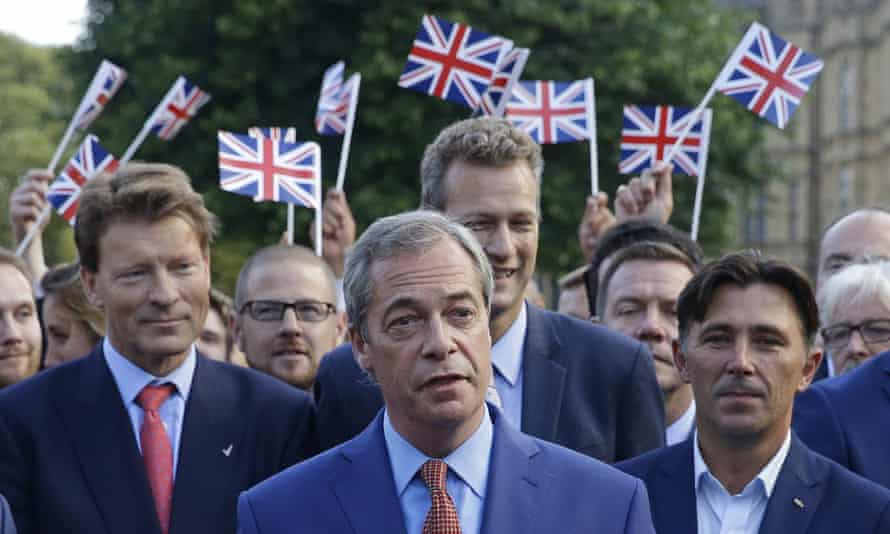 Nigel Farage, the leader of the UK Independence party speaks to the media in London, Friday, June 24, 2016.