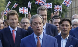 Nigel Farage speaks to the media in Westminster on Friday following the result of the EU referendum