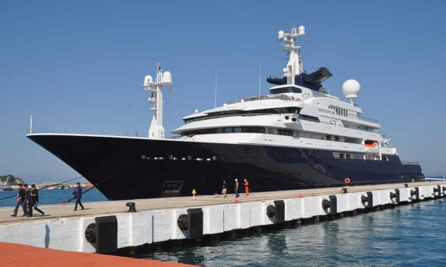Microsoft co-founder Allen's luxury yacht 'Octopus' at Aydin, Turkey in 2015.