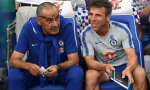 Gianfranco Zola (right) left Chelsea in 2003 after seven seasons at Stamford Bridge.