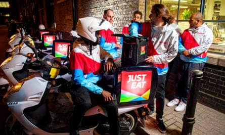 Just Eat delivery staff