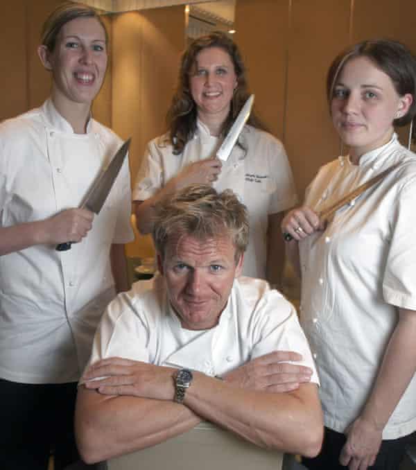 Smyth, far left, with Gordon Ramsey, Angela Hartnett and Gemma Tuley in 2008.