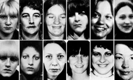 Composite picture of 12 of the 13 victims of Peter Sutcliffe. Top row (left to right): Wilma McCann, Emily Jackson, Irene Richardson, Patricia Atkinson, Jayne McDonald and Jean Jordan. Bottom row: Yvonne Pearson, Helen Rytka, Vera Millward, Josephine Whitaker, Barbara Leach and Jacqueline Hill. PA photo.